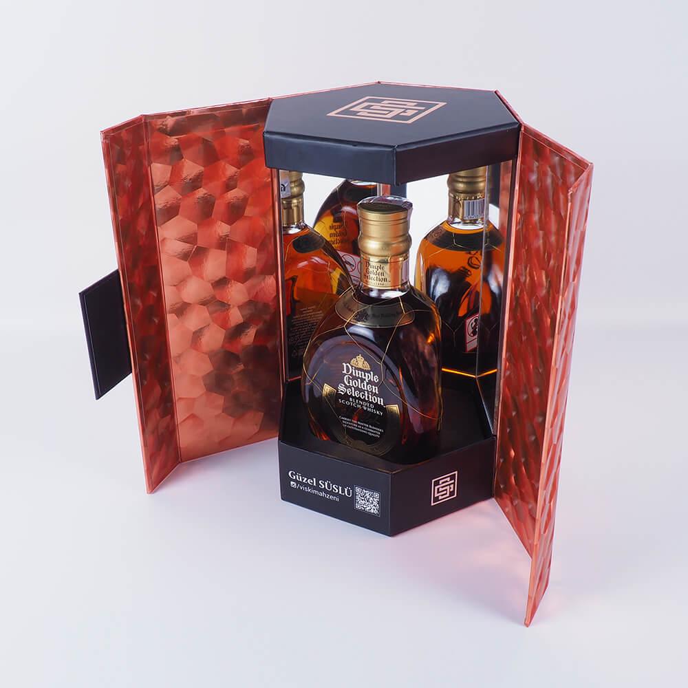 güzel süslü markalı özel viski kutusu5