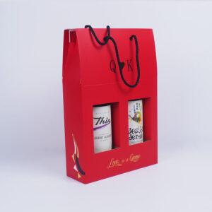 karton şarap çanta tasarımı