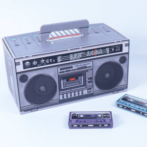kreatif kaset çalar mikro kraft kutu