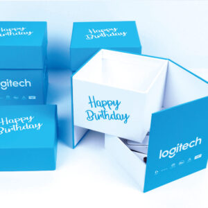 logitech marka özel tasarım mukavva kutu