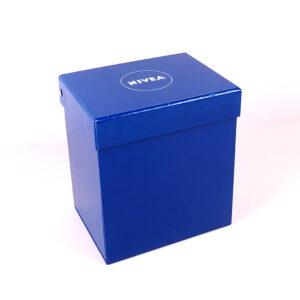 nivea marka mukavva özel tasarım kutu
