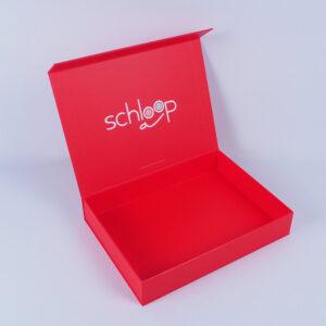 schloop marka kırmızı mıknatıslı mukavva kutu