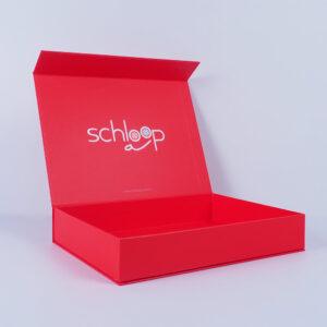 schloop marka kırmızı mıknatıslı mukavva kutu2