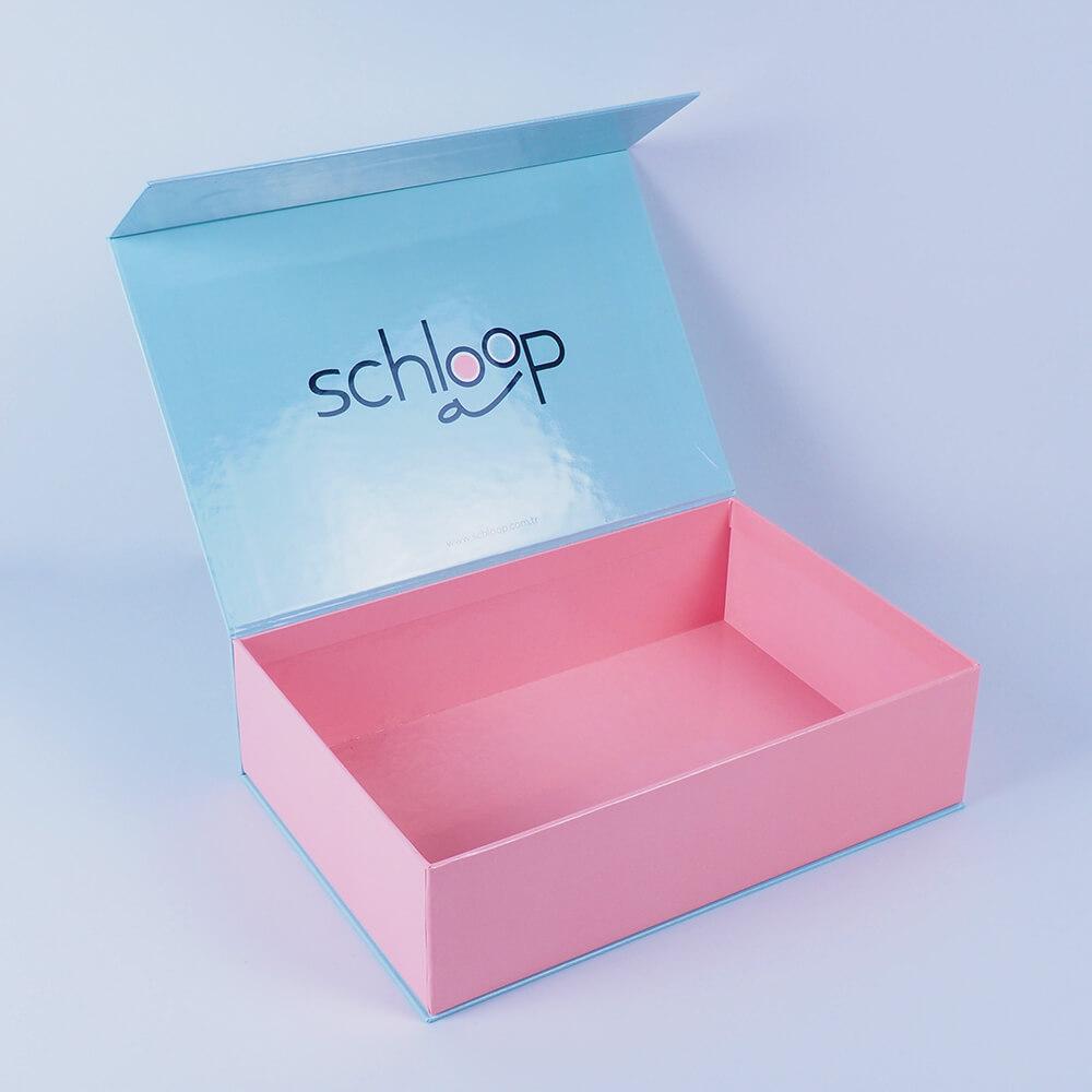 schloop marka mıknatıslı mukavva kutu