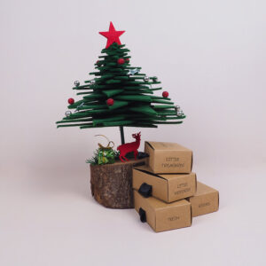 yılbaşı temalı kraft mukavva kutu