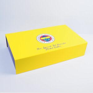fenerbahçe temalı özel mukavva kutu tasarımı