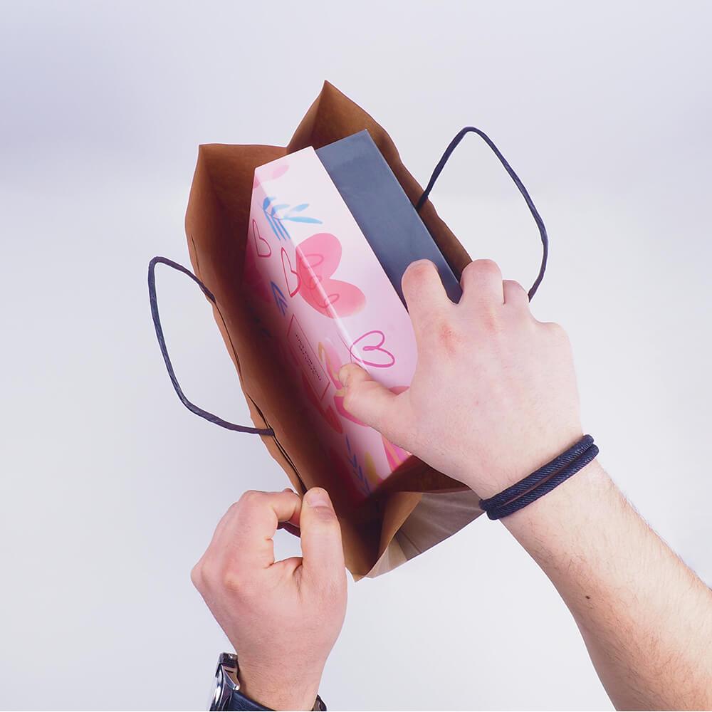 hediye kutuları için kraft çantalar2