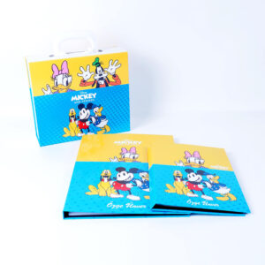 mickey mouse themed box and secretarial set