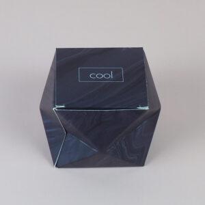 black origami cardboard box design