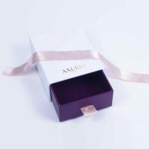 drawer form ribbon lock jewelry box