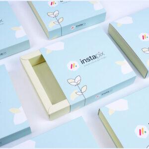 instapix markası için bristol sürgülü kutu tasarımı2