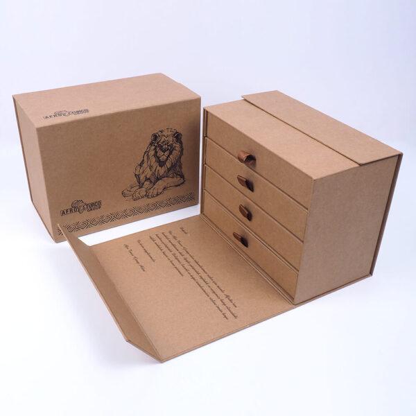 kraft çekmeceli özel seri kutu tasarımı2