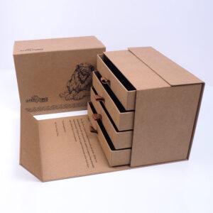 kraft çekmeceli özel seri kutu tasarımı3