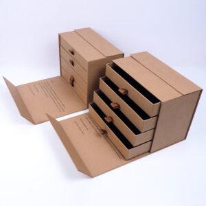 kraft çekmeceli özel seri kutu tasarımı4