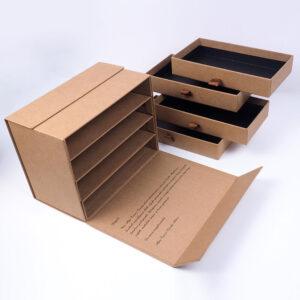kraft çekmeceli özel seri kutu tasarımı5