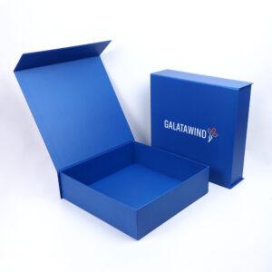 lacivert mıknatıslı mukavva kutu modeli